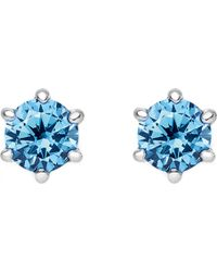 Thomas Sabo - Glam And Soul Blue Stone Sterling Silver Earrings - Lyst