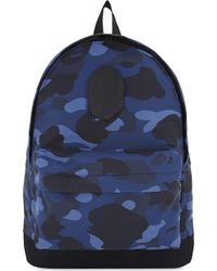 A Bathing Ape - Camouflage Print Backpack - Lyst