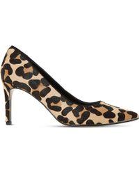 Dune - Abbigail Leopard-print Court Shoes - Lyst