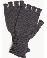 Thom Browne - Fingerless Merino Wool Gloves - Lyst