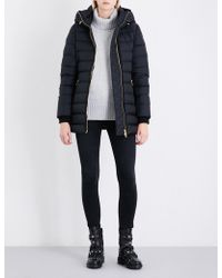 Burberry - Linefield Quilted Down And Feather-blend Coat - Lyst