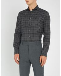 Smyth & Gibson - Checked Slim-fit Brushed-cotton Shirt - Lyst