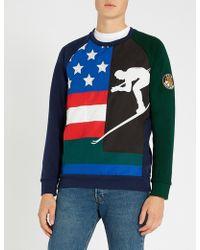 Polo Ralph Lauren - Downhill Skier Panelled Cotton-jersey Jumper - Lyst