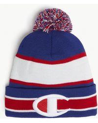 Champion - Logo Striped Bobble Hat - Lyst