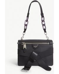 Moschino - Leather Belt Appliqué Shoulder Bag - Lyst