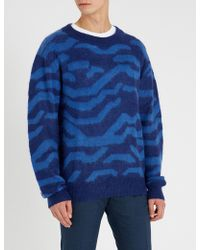 Tiger Of Sweden - Graphic-print Crewneck Knitted Jumper - Lyst