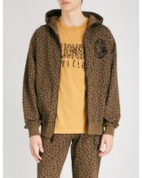 BBCICECREAM - Leopard-print Cotton-jersey Hoody - Lyst