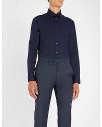 Emporio Armani - Modern-fit Jacquard Stripe Shirt - Lyst
