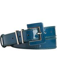 L.K.Bennett - Gena Skinny Patent-leather Belt - Lyst