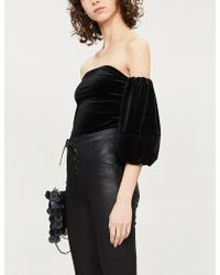GOOD AMERICAN - Off-the-shoulder Velvet Body - Lyst