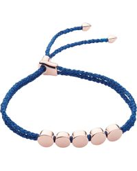 Monica Vinader - Linear Bead 18ct Rose-gold Vermeil Friendship Bracelet - Lyst
