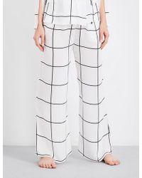 Aimee Kestenberg - Grid-pattern Silk Pyjama Bottoms - Lyst