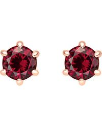Thomas Sabo - Glam And Soul Red Stone Sterling Silver And 18k Rose-gold Plated Earrings - Lyst