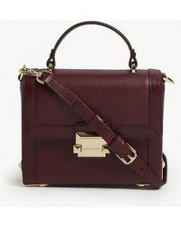 MICHAEL Michael Kors - Jayne Pebbled Leather Trunk Bag - Lyst