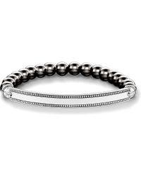 Thomas Sabo   Love Bridge Haematite And Silver Bracelet   Lyst