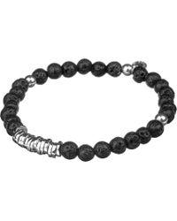 Tateossian - Silver Disc Beaded Bracelet - Lyst