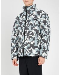 HUGO - Camouflage-print Down-filled Puffer Jacket - Lyst