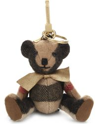 Burberry - Thomas Bear Check Charm 12cm - Lyst