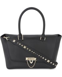 Valentino - Leather Oblong Tote Bag - Lyst