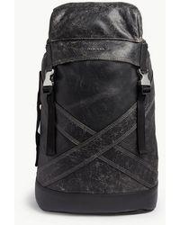 DIESEL - L-blaid Ranner Leather Backpack - Lyst