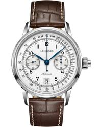 Longines - L1.645.4.52.4 Conquest Heritage Rose Gold Watch - Lyst