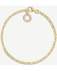 Thomas Sabo | 18ct Yellow-gold Plated Charm Bracelet | Lyst