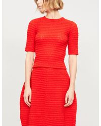 Jil Sander - Textured Knitted Top - Lyst