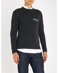 KENZO - Logo-detail Wool-blend Jumper - Lyst