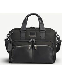 Tumi - Albany Slim Commuter Leather And Fabric Brief Bag - Lyst