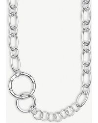 Thomas Sabo - Circle Sterling Silver Necklace - Lyst