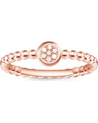 Thomas Sabo - Glam & Soul 18ct Rose Gold-plated Diamond Ring - Lyst