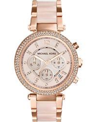 Michael Kors - Mk5896 Parker Rose Gold-tone Watch - Lyst
