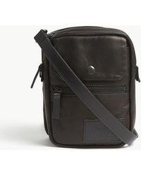 0e0d156d3ea7 Yohji Yamamoto - Double Leather Shoulder Bag - Lyst