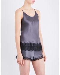 Nk Imode - Lace-detailed Silk-satin Pyjama Camisole - Lyst