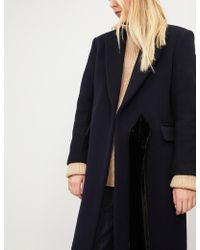 Sandro - Peak-lapel Wool-blend Coat - Lyst