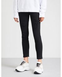 DSquared² - Distressed Straight Stretch-denim Jeans - Lyst
