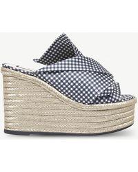 N°21 - Bow Espadrille Wedge Sandals - Lyst