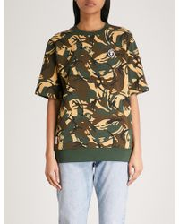 Aape - Camouflage-print Cotton-jersey T-shirt - Lyst