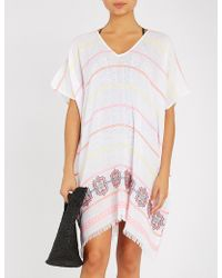 Seafolly - Jacquard Hem Cotton-blend Kaftan - Lyst