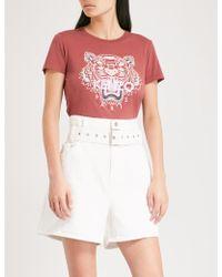 KENZO - Tiger Cotton-jersey T-shirt - Lyst