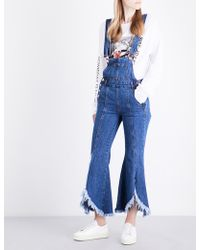 SJYP | Ladies Flared Classic Flared-leg Denim Jumpsuit | Lyst