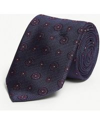 Eton of Sweden - Medallion Print Silk Tie - Lyst