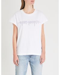 Cheap Monday - Screen Hacker Logo-print Cotton-jersey T-shirt - Lyst