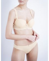 Panache - Ardour Jersey And Stretch-lace Sweetheart Moulded Bra - Lyst