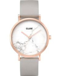 Cluse - Cl40005 La Roche Marble-dial Leather Watch - Lyst