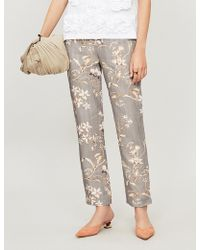 Johanna Ortiz - Floral-print Linen Trousers - Lyst