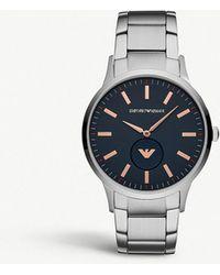 Emporio Armani - Ar11137 Renato Stainless Steel Watch - Lyst