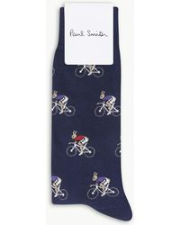 Paul Smith - Rabbit On Bike Cotton-blend Socks - Lyst