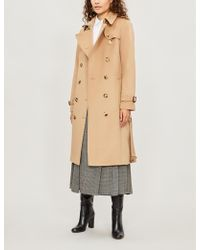 Burberry - The Kensington Heritage Long Cotton Trench Coat - Lyst