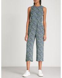 MICHAEL Michael Kors - Floral-print Stretch-crepe Jumpsuit - Lyst